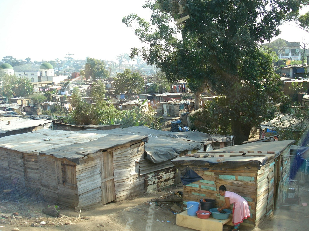 Image of Poverty in Shanty-town like setting